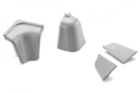 ПЛ-205: Комплект заглушек к овал. плинтусу 204/209