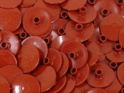 Заглушка пластиковая для конфирмата №7 тем. орех