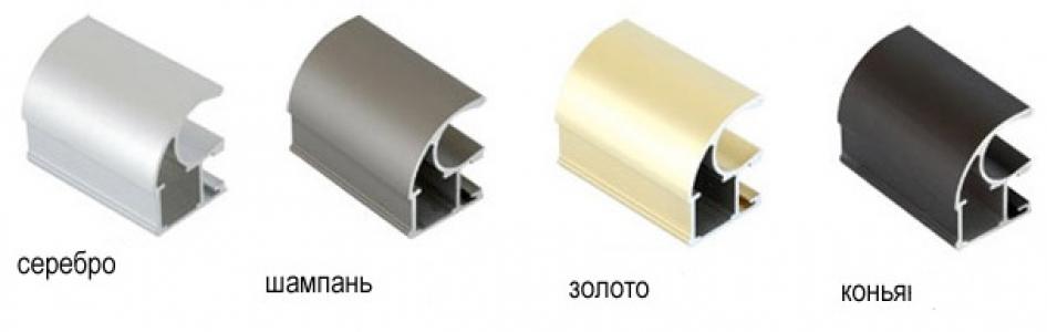 ШК-1 Ручка профиль асимметричная золото 2,7 м