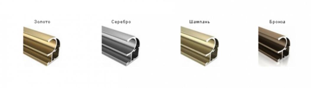 ШК-2 Ручка профиль симметричная золото 2,7 м