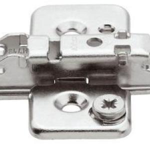 Планка Blum CLIP крестообразная под саморез, подъем 3 мм, регулировка по высоте эксцентриком