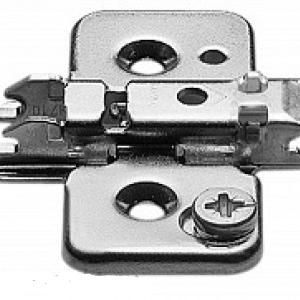 Планка Blum CLIP крестообразная под саморез, регулировка по высоте эксцентриком