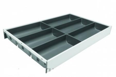 Лоток из стали для столовых приборов под стандартный ящик Blum AMBIA-LINE