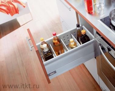 Ящик Blum TANDEMBOX M с лотком для бутылок с боковиноий BOXSIDE (высота D)