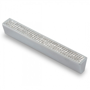 7067 Ручка скоба с кристаллами 128 мм хром