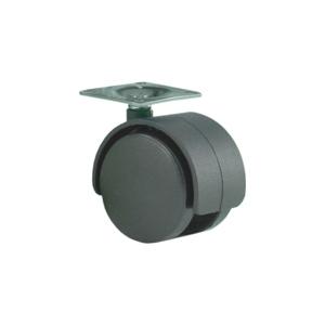 Колесо: K-125 на площадке D-50 без стопора, черное