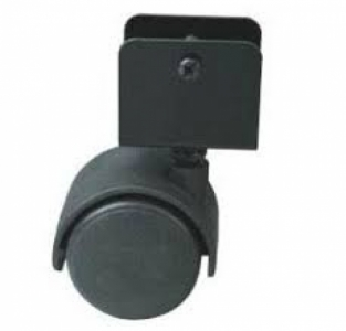 Колесо: K-132 на скобе D-40 без стопора, черное