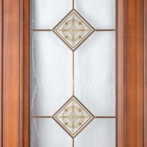 Фасад с витражом Караваджио+штапик