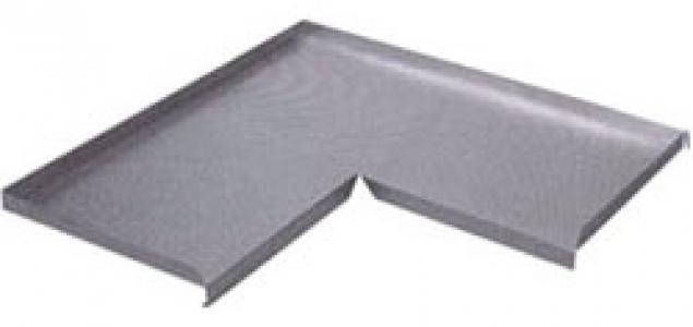 Поддон алюминиевый Volpato в угловую базу 90 гр.