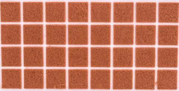 Войлок коричневый 25х25 мм