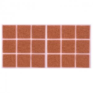 Войлок коричневый 35х35 мм