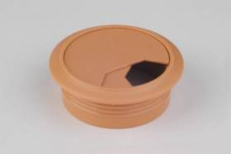 Заглушка для проводки D-60 мм, №21 светлый орех