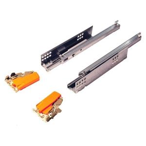 Направляющие Blum TANDEM частичного выдвижения (30кг), без доводчика (комплект с замками)