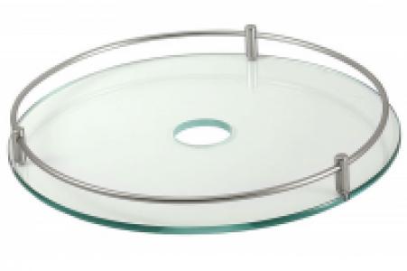 641 Хром - Полка стеклянная с релингом 450 мм