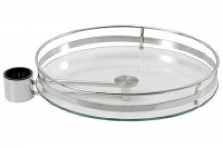 642 Хром - Полка боковая стеклянная с рел. 350 мм