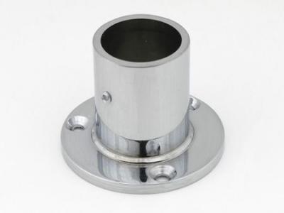 Фланец для трубы (ОП-250) D-25 мм ВЫСОКИЙ хром