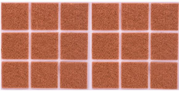 Войлок коричневый 30х30 мм